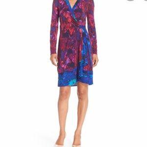 BCBGMaxAzria Adele Jersey Wrap Dress